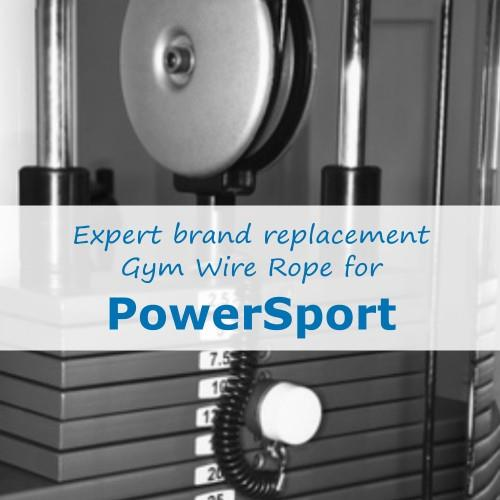 PowerSport Fitness Gym Cable Wire Rope