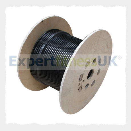 GYM PARTS - 4mm BLACK NYLON COATED Gym WIRE ROPE